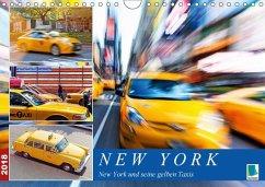 New York und seine gelben Taxis (Wandkalender 2018 DIN A4 quer) Dieser erfolgreiche Kalender wurde dieses Jahr mit gleichen Bildern und aktualisiertem Kalendarium wiederveröffentlicht.