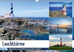 Leuchttürme - Maritime Leuchtfeuer an den Küsten (Wandkalender 2018 DIN A3 quer) Dieser erfolgreiche Kalender wurde dieses Jahr mit gleichen Bildern und aktualisiertem Kalendarium wiederveröffentlicht.
