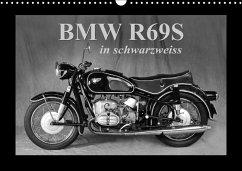 BMW R69S in schwarzweiss (Wandkalender 2018 DIN A3 quer)