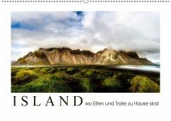Island wo Elfen und Trolle zuhause sind (Wandkalender 2018 DIN A2 quer)