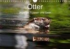 Otter - Jäger an Flüssen und Seen (Wandkalender 2018 DIN A4 quer)