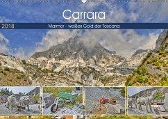 Carrara Marmor - weißes Gold der Toscana (Wandkalender 2018 DIN A2 quer) Dieser erfolgreiche Kalender wurde dieses Jahr mit gleichen Bildern und aktualisiertem Kalendarium wiederveröffentlicht.