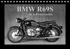 BMW R69S in schwarzweiss (Tischkalender 2018 DIN A5 quer)