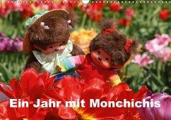 Ein Jahr mit Monchichis (Wandkalender 2018 DIN A3 quer)