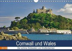 Cornwall und Wales (Wandkalender 2018 DIN A4 quer) Dieser erfolgreiche Kalender wurde dieses Jahr mit gleichen Bildern und aktualisiertem Kalendarium wiederveröffentlicht.