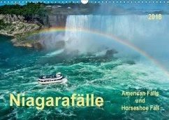Niagarafälle - American Falls und Horseshoe Fall (Wandkalender 2018 DIN A3 quer) Dieser erfolgreiche Kalender wurde dieses Jahr mit gleichen Bildern und aktualisiertem Kalendarium wiederveröffentlicht.
