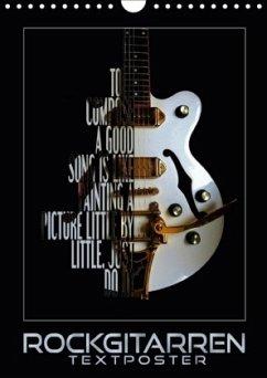 Rockgitarren Textposter (Wandkalender 2018 DIN ...