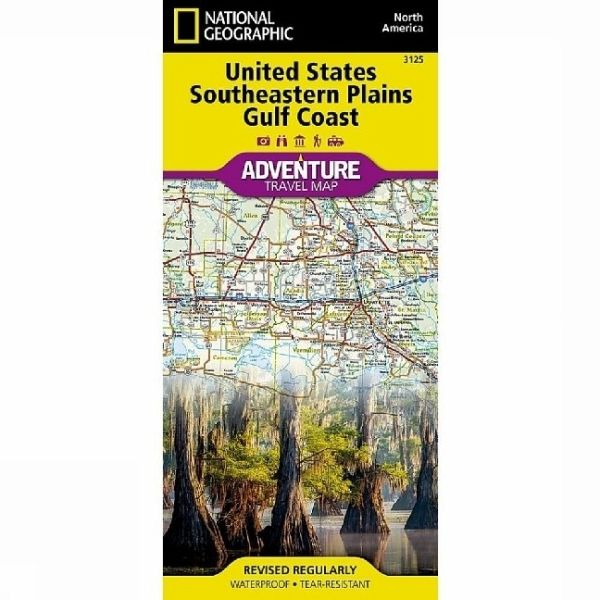 National Geographic Adventure Map United States, Southeastern Plains ...