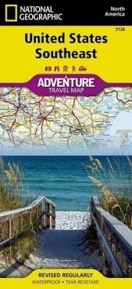 National Geographic Adventure Map United States, Southeast von N ...