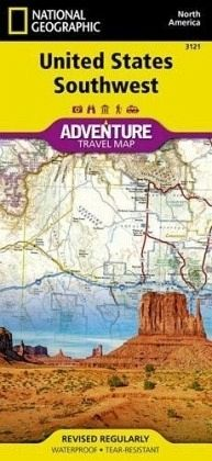 National Geographic Adventure Map United States, Southwest