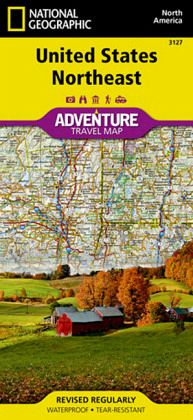National Geographic Adventure Map United States, Northeast