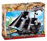 COBI 6016 - PIRATES, Pirate Ship, Piratenschiff, Baukasten, Modellbau, 404 Teile und 4 Figuren