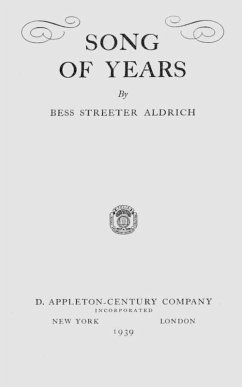 Song of Years (eBook, ePUB) - Aldrich, Bess Streeter
