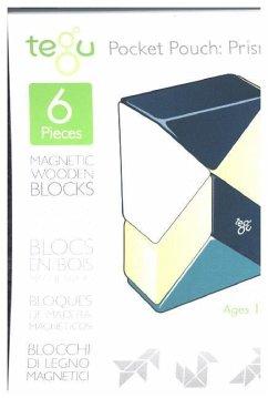 Magnetisches Holzprisma blau, 6-teilig Beutel