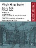 25 kleine Duette aus op. 40, für zwei Blockflöten in C (Flöten/Oboen/Violinen oder andere Melodieinstrumente)