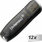 12x1 Intenso Rainbow Line 16GB USB Stick 2.0