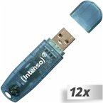 12x1 Intenso Rainbow Line 4GB USB Stick 2.0