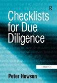 Checklists for Due Diligence (eBook, ePUB)