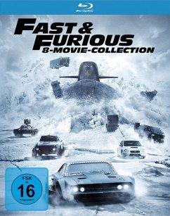 Fast & Furious - 8 Movie Collection BLU-RAY Box - Vin Diesel,Paul Walker,Dwayne Johnson