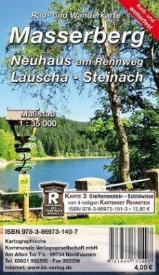 KKV Rad- und Wanderkarte Masserberg - Neuhaus am Rennweg - Lauscha - Steinach