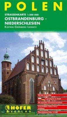 Höfer Straßenkarte Polen, Ostbrandenburg - Niederschlesien