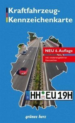Kraftfahrzeug-Kennzeichenkarte Deutschland