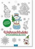 Weihnachtsdeko Stickermalblock