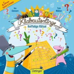 Die Klabauterlinge - Kniffelige Rätsel (Mängelexemplar) - Clement, Ina; Mildner, Tom