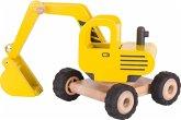 Goki 55898 - Bagger, Holz, Baustellenfahrzeug, Schaufelbagger
