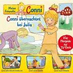 Meine Freundin Conni - 08: Conni übernachtet bei Julia / Conni geht nicht mit Fremden mit / Conni auf der Baustelle / Conni macht Flohmarkt (Vier Hörspiele zur TV-Serie) (MP3-Download)