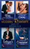 Modern Romance Collection: July Books 5 - 8: A Ring to Secure His Crown / Wedding Night with Her Enemy / Salazar's One-Night Heir / Claiming His Convenient Fiancée (eBook, ePUB)