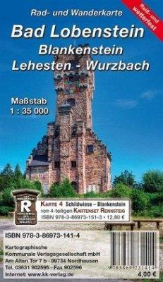 KKV Rad- und Wanderkarte Bad Lobenstein - Blankenstein - Lehesten - Wurzbach