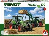 Schmidt 56256 - Puzzle, Fendt 724 Vario, Fendt 716 Vario mit Frontlader Cargo, Kinderpuzzle, 100-Teile