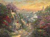 Schmidt 59482 - Dörfchen am Leuchtturm, Puzzle, 3000 Teile, Thomas Kinkade
