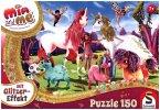 Schmidt 56247 - Mia and me, Glitzerpuzzle, Ankunft Der Pony-Einhörner, 150-Teile, Puzzle