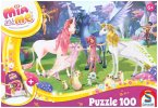 Schmidt 56267 - Mia and me, Kinderpuzzle, 100 Teile, inclusive Sportbeutel, Puzzle
