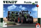 Schmidt 56255 - Puzzle, Fendt 1050 Vario mit Amazone Grubber Cenius, Kinderpuzzle, 60-Teile
