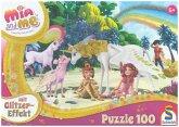 Schmidt 56246 - Mia and me, Glitzerpuzzle, Am Strand, 100-Teile, Puzzle