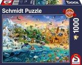 Schmidt 58324 - Die Welt der Tiere, Puzzle, 1000 Teile