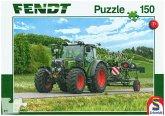 Schmidt 56257 - Puzzle, Fendt 211 Vario mit Fendt Wender Twister, Kinderpuzzle, 150-Teile