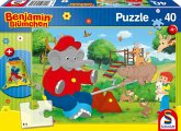 Schmidt 56262 - Puzzle, Benjamin Blümchen, Kinderpuzzle, 40 Teile, mit Sportbeutel