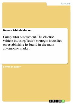 Competitor Assessment. The electric vehicle industry. Tesla's strategic focus lies on establishing its brand in the mass automotive market (eBook, PDF)
