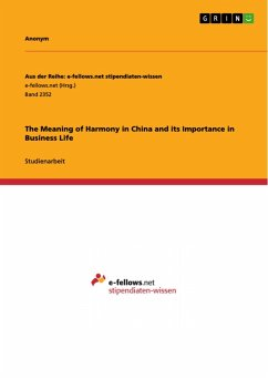 The Meaning of Harmony in China and its Importance in Business Life (eBook, PDF)