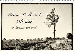Baum, Blatt und Pflanze in Schwarz und Weiß (Wa...