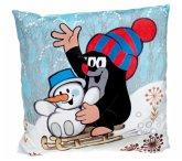 Der kleine Maulwurf mit Schneemann, Kissen