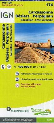 IGN 174 Béziers Pérpignan