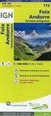 IGN Karte, Tourisme et vélo Foix, Andorre