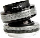 Lensbaby Composer Pro II incl. Sweet 50 Optic Nikon F Objektiv für Nikon (46 mm Filtergewinde, Vollformat / APS-C Sensor)