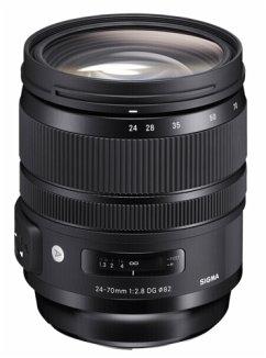 Sigma 2,8/24-70 DG OS HSM N/AF Art Zoom-Objektiv für Nikon (82 mm Filtergewinde, Vollformat Sensor)