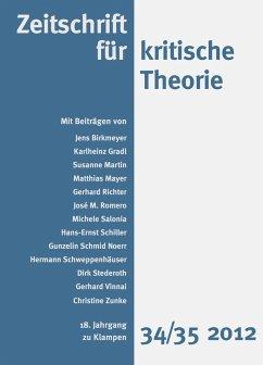 Zeitschrift für kritische Theorie / Zeitschrift für kritische Theorie, Heft 34/35 (eBook, PDF)